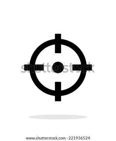 Crosshair icon on white background. Vector illustration. - stock vector