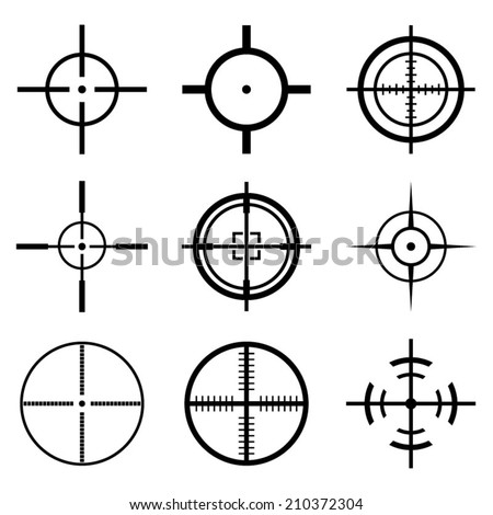 Crosshair Icons Set - stock vector