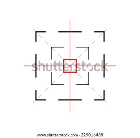 crosshair of the gun on white background, vector - stock vector