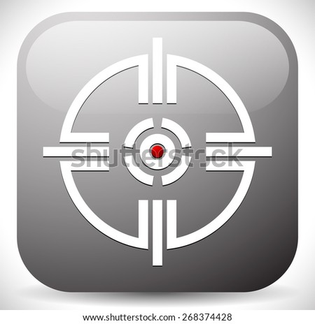 Crosshair, Reticle, target mark icon. Alignment, target, aiming concepts. - stock vector