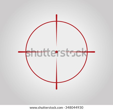 Crosshair, reticle, viewfinder, target graphics - stock vector