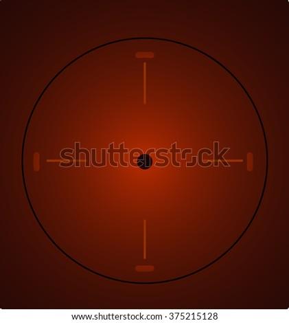 Crosshair, reticle, viewfinder, target graphics - stock vector