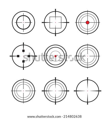 Crosshair vector set illustration  - stock vector