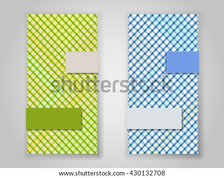 Crossing color stripes vertical vector banner template. - stock vector