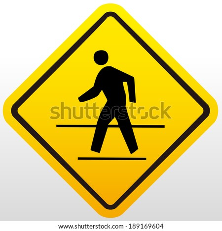 Crossing sign - stock vector