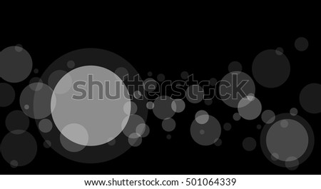 crossing transparent circles abstract overlay background stock