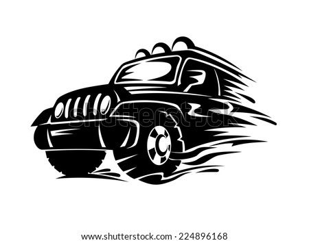 Crossover car for extreme sports design. Vector illustration - stock vector