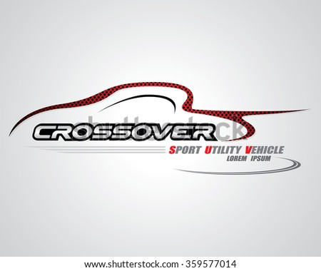 Crossover concept for logo design vector - stock vector