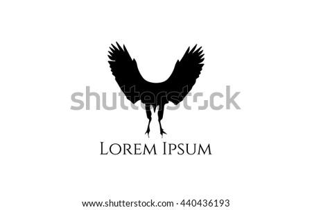 Crow logo stock vector 440436193 shutterstock crow logo sciox Choice Image