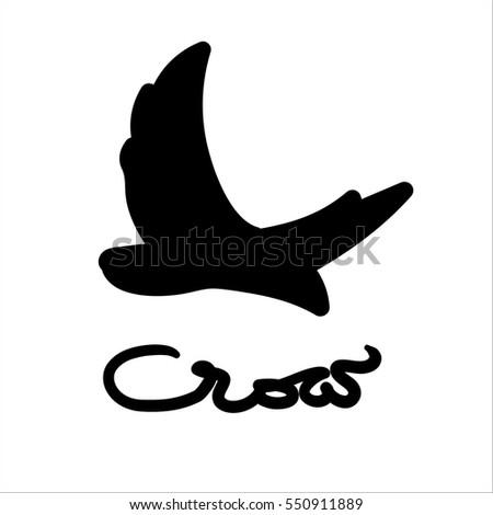 Crow logo vector stock vector 550911889 shutterstock crow logo vector sciox Choice Image