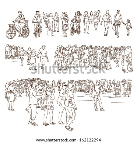 Crowd - stock vector