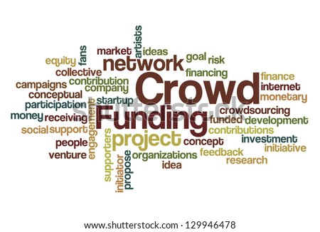 Crowd Funding Word Cloud - stock vector