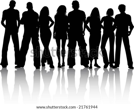 crowd of people - stock vector