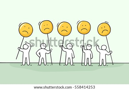 Group Of Sad People Clipart