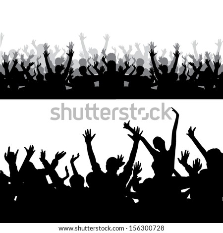 Crowd Silhouette Vector Crowd Silhouette