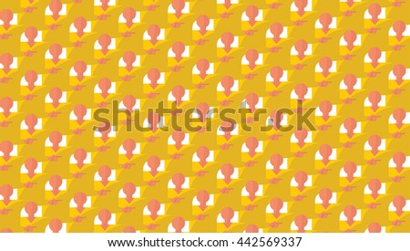 Crowded people. Vector illustration in flat style design. Abstract background