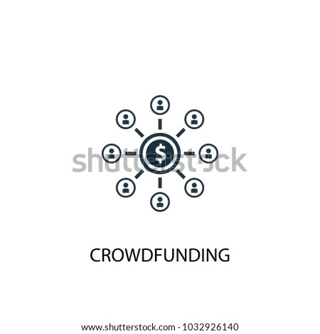 crowdfunding icon simple element illustration crowdfunding stock