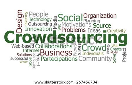 Crowdsourcing word cloud - stock vector