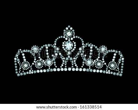 crown decorated with jewels - stock vector