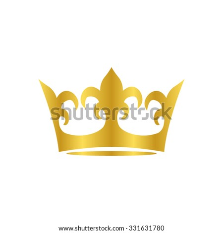 crown - gold vector icon