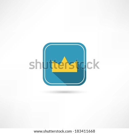 crown icon - stock vector