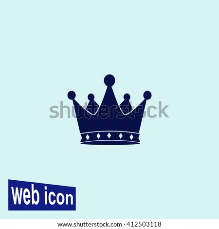 Crown icon. Crown vector. Simple icon isolated on gray background. - stock vector
