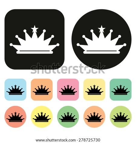 crown icon. vector