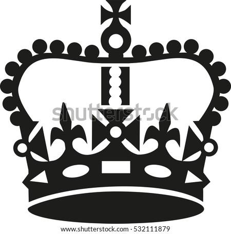 Keep calm crown symbol white