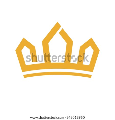 crown logo vector. calligraphy of malik (arabic version for KING). - stock vector