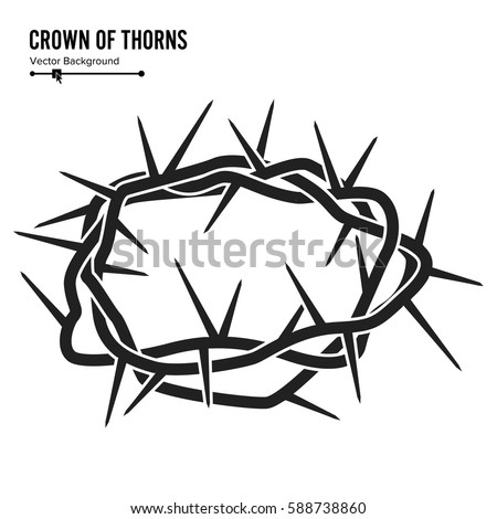 Crown Of Thorns Silhouette A Jesus Christ Isolated On