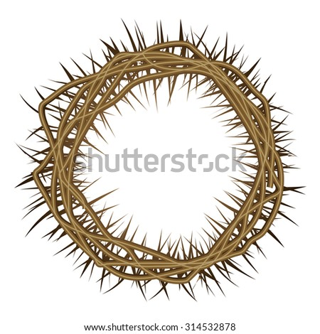 Crown of Thorns -  - vector illustration