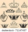 Crown Set - stock photo