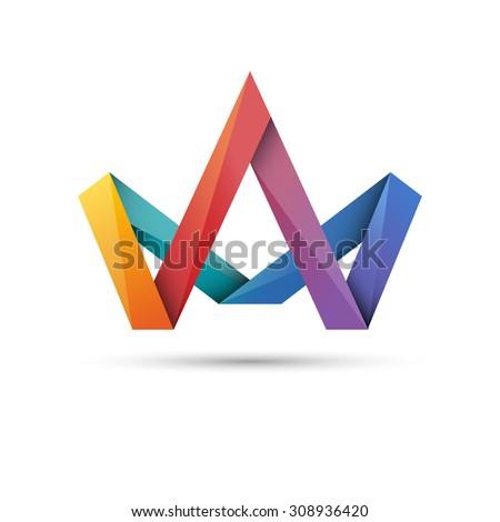 Crown symbol, eps10 vector - stock vector