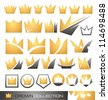 Crown symbols and icons collection - stock vector