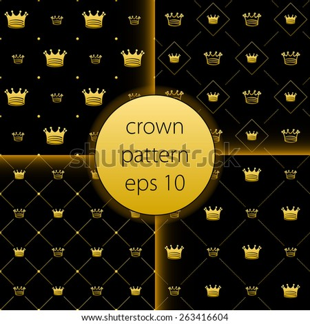 crown vector collection gold big set icons vector gold banner laurel wreath and Ribbon banner shields. Isolated on black background vintage elements for your design - stock vector