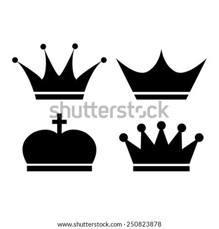 Crown vector icon - stock vector