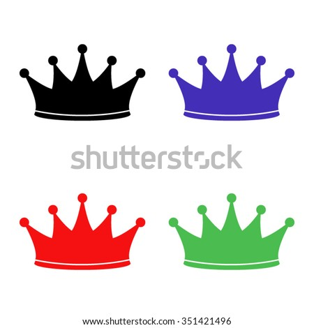 crown vector icon colored set stock vector hd royalty free rh shutterstock com free vector crown of thorns free vector crown princess