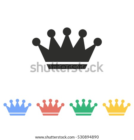Crown vector icon. Illustration isolated on white background for graphic and web design.