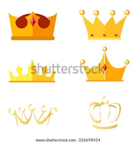 Crowns - stock vector