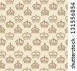 Crowns vector seamless pattern - stock vector