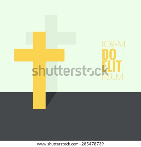 Crucifix Symbols Christianity Forgiveness Stock Vector 285478739