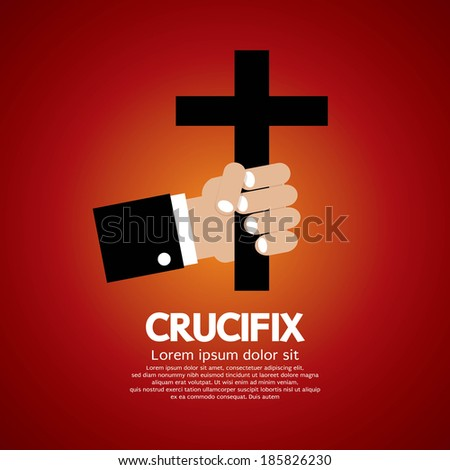 Crucifix Vector Illustration - stock vector