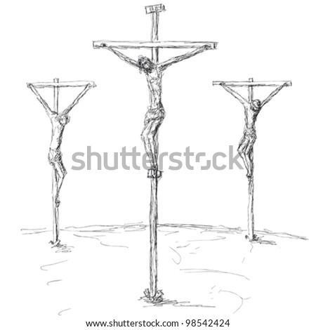 crucifixion - stock vector