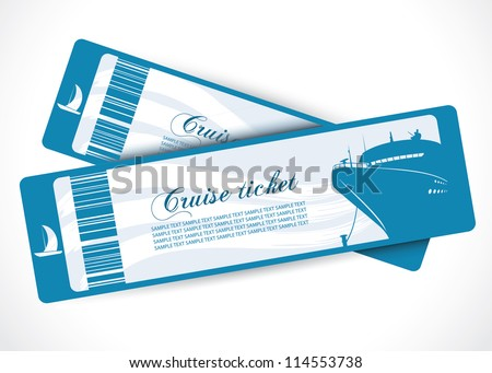 Cruise ship tickets - vector illustration - stock vector