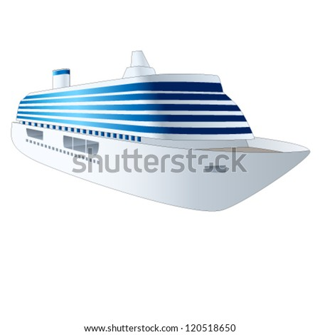 cruise ship - vector illustration - stock vector