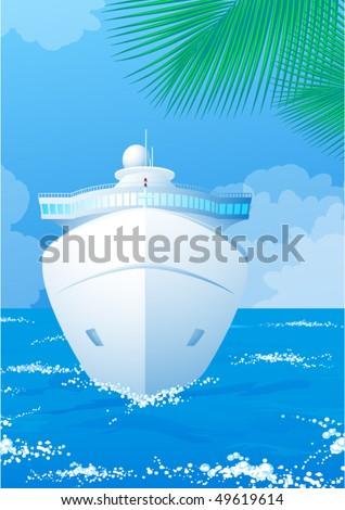 Cruise. Vector. - stock vector