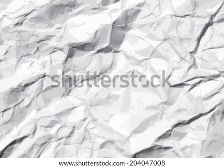 crumpled paper  Texture. illustration - stock vector