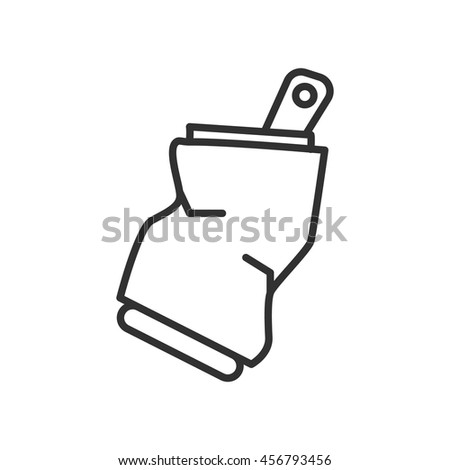crushed can clipart. crushed can linear icon. thin line design clipart y