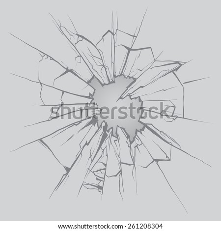 Crushed glass, hand drawn, vector illustration - stock vector