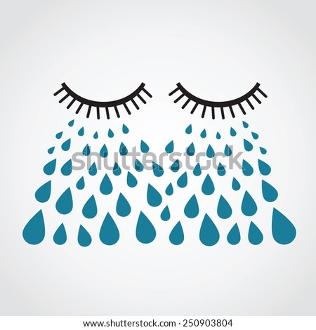 crying vector - stock vector